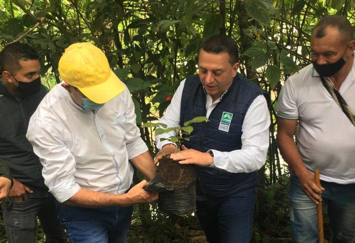 Director General de la Cárder sembró el primer árbol para ampliar el Jardín Botánico de Belén de Umbría